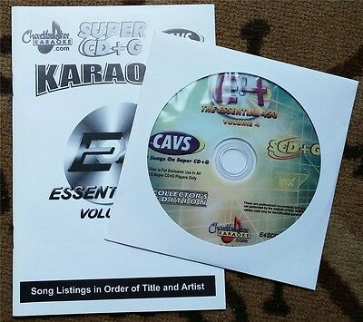 Chartbuster Super Cd+G Essentials Karaoke Scdg E4, 450 Songs, Cavs Country,pop