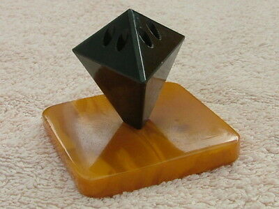 Art Deco Stift Halter Holder Futuran Catalin, Red Bakelit, Amber Kunst Bernstein