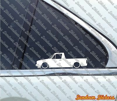 2X Lowered car stickers - for volkswagen vw CADDY Mk1   Classic pickup