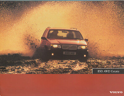 Prospekt Brochure Volvo 850 Awd Estate 1996 (Gb)