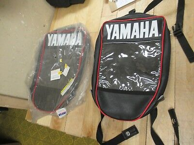 Gets Two Identical - Yamaha Oem Tank Bag For Sled Or Atv - Straps Or Rivets On