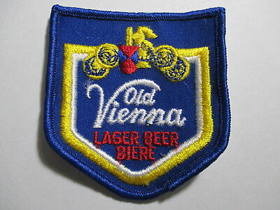 Vintage old Vienna Luger Beer Patch 3 x 2 3/4 inches