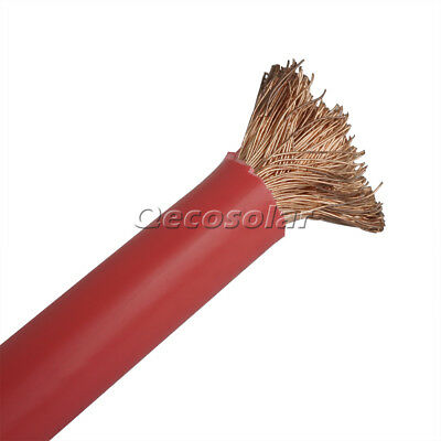 3M Red Copper Welding Cable 15mm²  6AWG  Earth Grond Wires US Stock