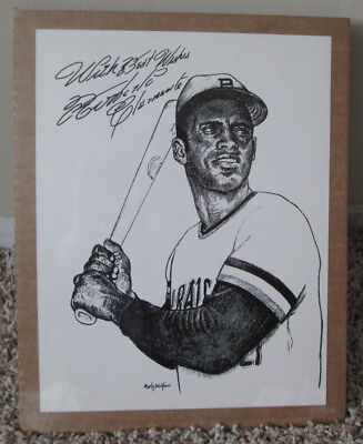 Canvas Roberto Clemente With Autograph Seekers Art Print Poster