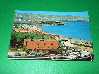 Cartolina Crotone - Costa Via per Capo Colonna 1986