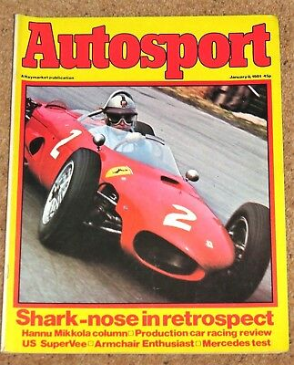 Autosport 8/1/81* SHARKNOSE FERRARI 156 DINO STORY - PROD SALOONS & F VEE REVIEW