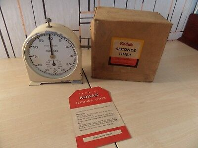"Very Rare ""kodak"" Seconds Timer For Photographic Developing Timing, Works Well"