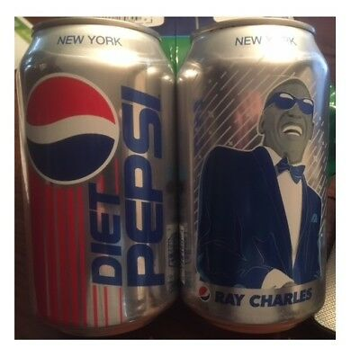 1 Ray Charles Limited Edition Full Diet Pepsi Can! RARE!