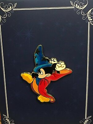 Disney Acme Shanghai Hot Art Fantasia Sorcerer Apprentice Mickey Art Card LR Pin