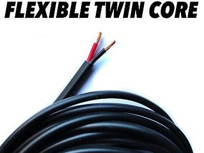 2 Core Flat Twin Thin Wall 12v/24v Automotive Wiring Loom Red/Black Wire Cable