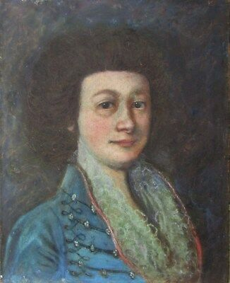 18th Century Pastel Portrait Painting of a Well Dressed Young Gentleman NO RES.