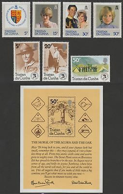 Tristan da Cunha 1982-83 Queen Elizabeth II Selection inc Min Sheets UM Mint