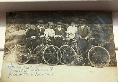 Rare Antique Bicycle Bike Photograph Post Card