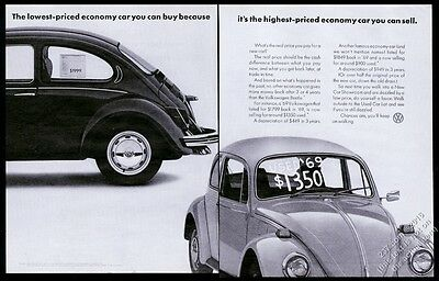 1972 VW Volkswagen Beetle classic car photo Lowest Priced Economy Car 20x13 ad