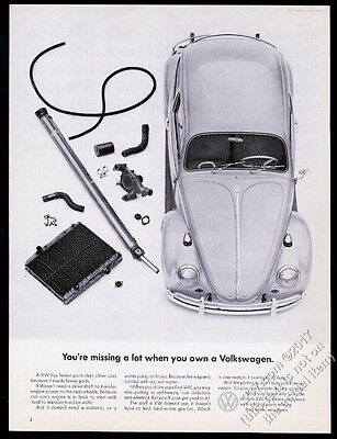 1965 VW Beetle classic car photo You're Missing A Lot Volkswagen 13x10 print ad