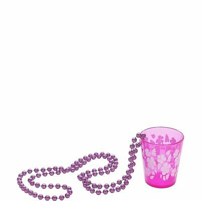 Shot Glass on Beads Hot Pink Hen Party Do Womens Ladies Fancy Dress Accessory