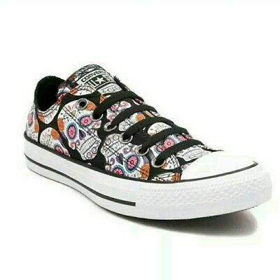 60b0b744afbf New Converse Kids Day of Dead Chuck Taylor Sugar Skull Low Lace Up Suede  Shoes 1
