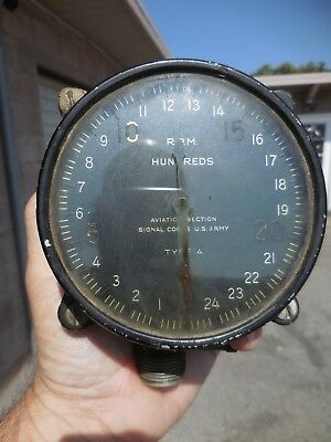 Wwii Us Army Aviation Signal Corps Rpm Gauge Type A  National Cash Register