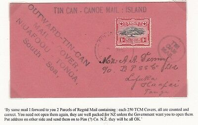 1945? Tonga Tin Can Mail To Haapai Re 2 Parcels Of 250 Covers Sent > New Zealand