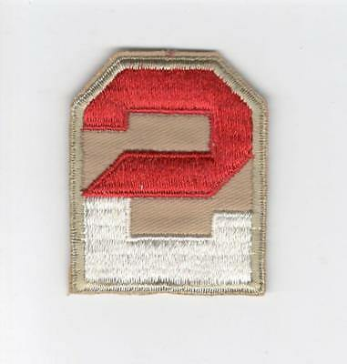 Twill WW 2 US Army 2nd Army Patch Inv# D452