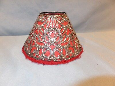 Sterling Silver Gorham oil lamp candle stick Shade