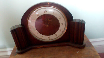 Vintage Art Deco Smith Clock 16cm dia face 30x20x8cm overall size