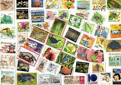 A LOVELY SELECTION OF KILOWARE STAMPS FROM SINGAPORE WITH HVs