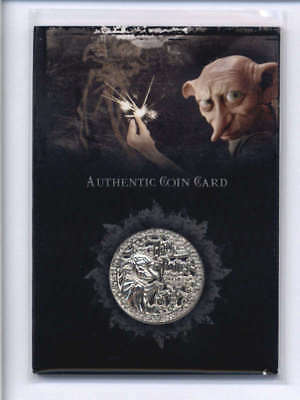 HARRY POTTER and THE CHAMBER SECRETS EMBEDDED GOLD STANDARD COIN CARD FD3324