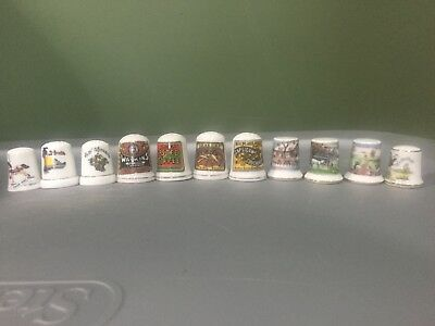 Lot of 11 Porcelain Collectible Sewing Thimbles