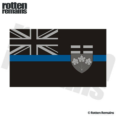 Ontario Subdued Flag Decal Canada ON Thin Blue Line Vinyl Sticker EVM