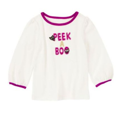 *new* Gymboree Little Girl Size 2T Purrfectly Fabulous Peek A Boo Halloween Top