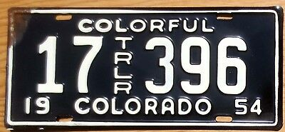 1954 Colorado License Plate Number Tag - $2.99 Start