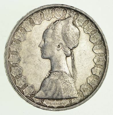 Roughly Size of Half Dollar - 1960 Italy 500 Lire - World Silver Coin - 11g *964
