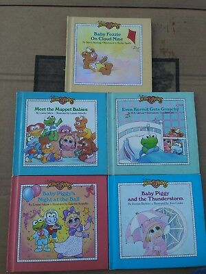 Muppet Babies Book Jim Henson Baby Toddler Picture Story Books Vintage Lot Of 5