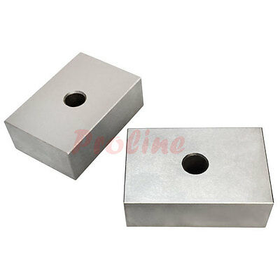 1 PAIR 1 2 3 Metal Ultra Precision Blocks ONE Hole Milling Drilling 2 PC