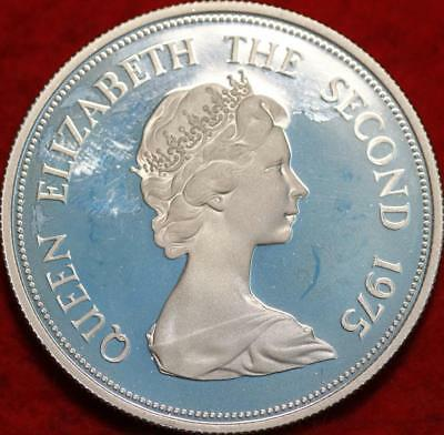 1975 Proof Mauritius 25 Rupee Silver Butterfly Foreign Coin