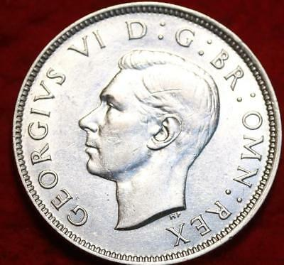 Uncirculated 1944 Great Britain 2 Shillings Silver Foreign Coin