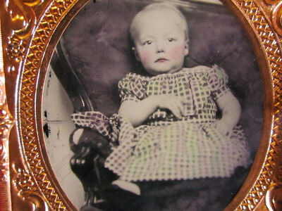 little Annie Holland ambrotype photograph