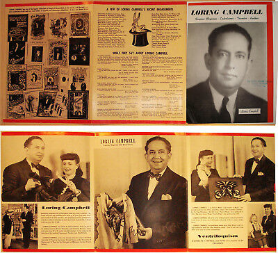Loring Campbell TriFold Broch-ca. 1940s/50-Magic/Ventriloquist/etc-v.FINE-Op