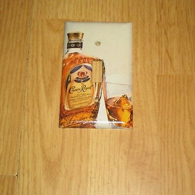 CLASSIC CROWN ROYAL Whiskey Bottle LIGHT SWITCH COVER PLATE