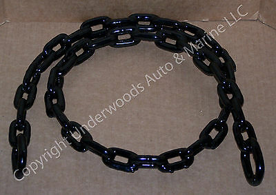 Black Chain Anchor 5/16'' x 5' Vinyl Coated Greenfield Boat Anchoring USA made