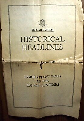 #562 HISTORICAL HEADLINES, FAMOUS FRONT PAGES OF THE LOS ANGELES TIMES, 2nd. ED.