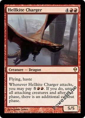 Mirage *Rare DEUTSCH PLAYED* MTG 1x CRIMSON HELLKITE