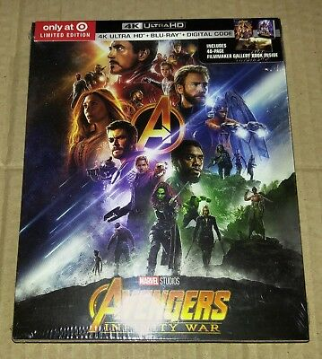 New Avengers Infinity War 4K UHD/Blu-ray/DC Target USA + Booklet (Not Digibook)