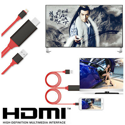 HDMI AV Adapter Video Cable Cord for Apple iPad iPhone X 8 7 6 Plus 6S to HD TV