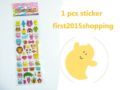 1pc Newly Hot Cartoon Stickers Lot Craft Animal Festival Wall Kid Party Toy A1