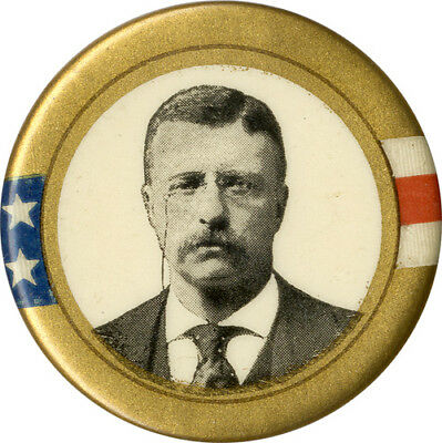 Classic 1904 Theodore Roosevelt Picture Button