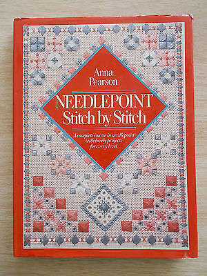 Needlepoint~Stitch By Stitch~Anna Pearson~Cross Stitch~Florentine~Pulled Thread