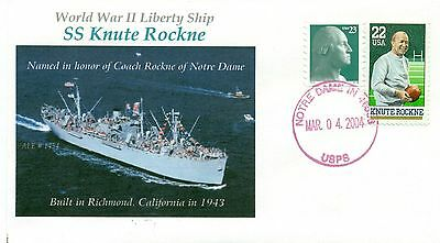 KNUTE ROCKNE Ship named for Football Player and Notre Dame Coach Handstamped PM