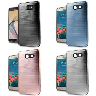 SAMSUNG GALAXY J7 Sky Pro Case Brushed Aluminum SLIM ARMOR SLEEK Cover
